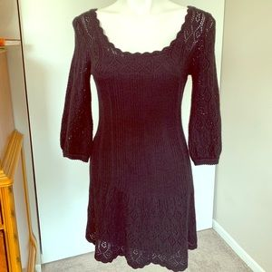 Betsey Johnson black sweater dress